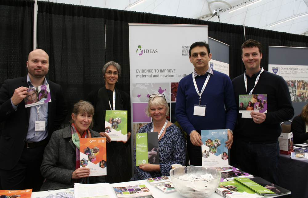 IDEAS team at the Health Systems Research conference stand, 2017